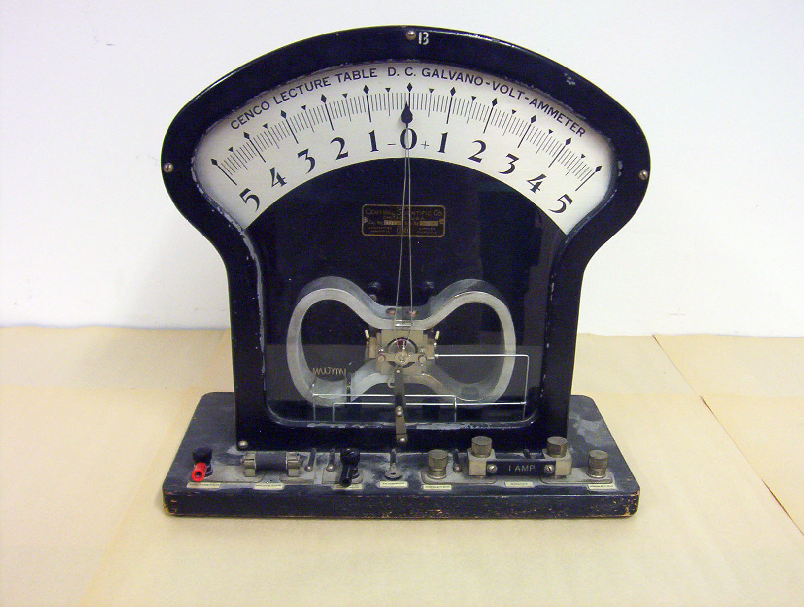 St Lawrence University Physics Lecture Demos Large Demo Wiring Voltmeter And Amp Meter Galvanometer